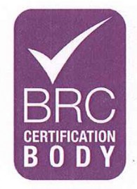 BRC CERTIFICATE OF QUALITY